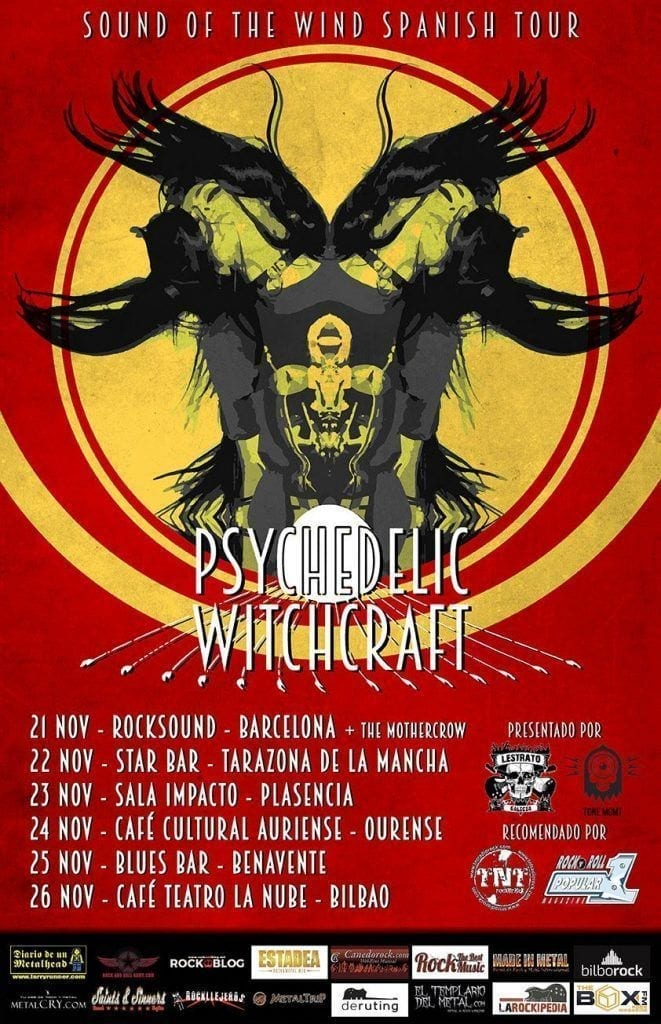 conciertso de rock and blog psychedelic witchcraft gira