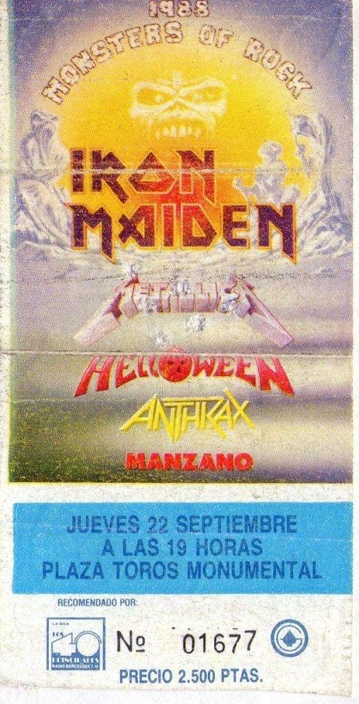 Monsters Of Rock 1988 España
