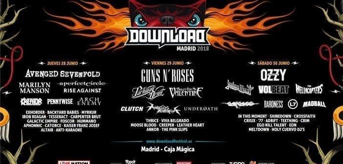 cartel definitivo del download festival madrid