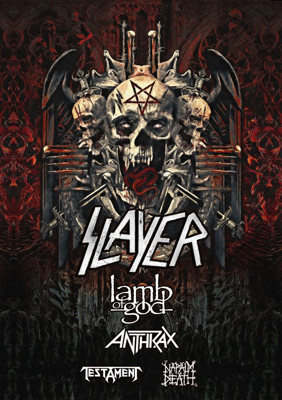 Slayer gira con napalm death