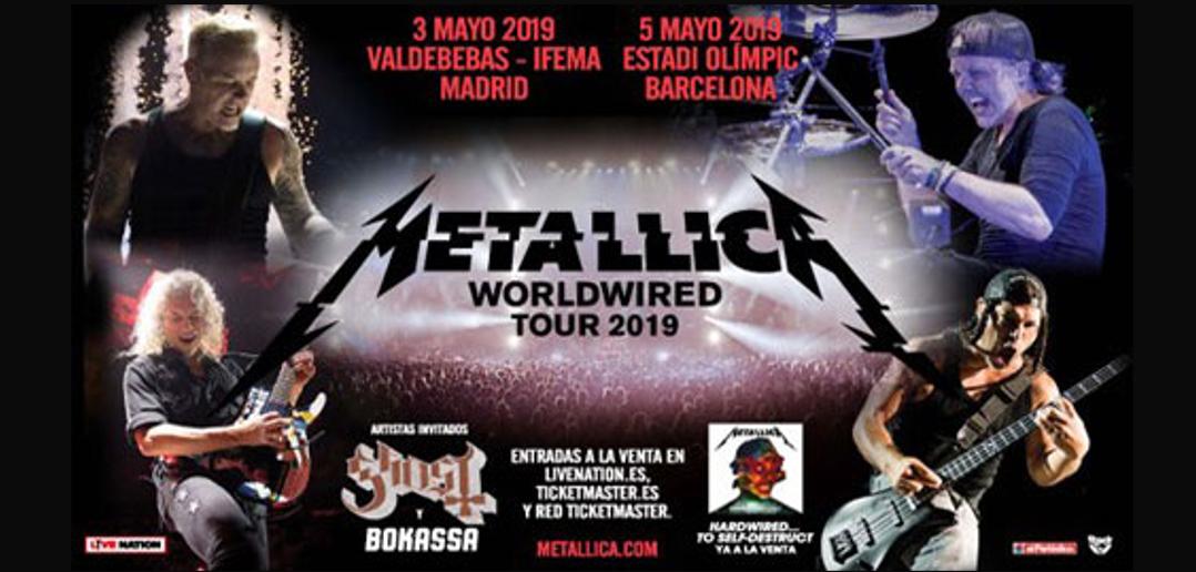 gira-metallica-madrid-barcelona-2019