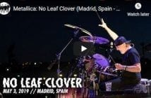 metallica madrid no leaf clover