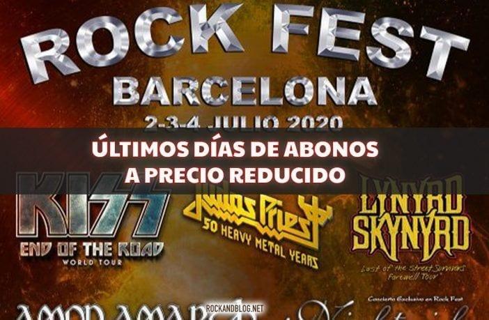 abonos rock fest ultimos dias