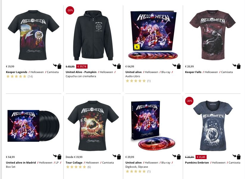 merchandising helloween