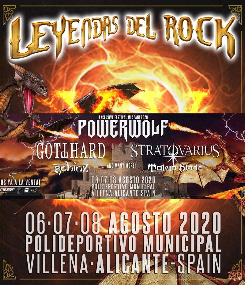cartel leyendas del rock 2020