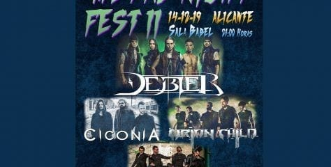 METAL NIGHT FEST II. Este sábado con DÉBLER, CICONIA, ORION CHILD y EBONY CODE