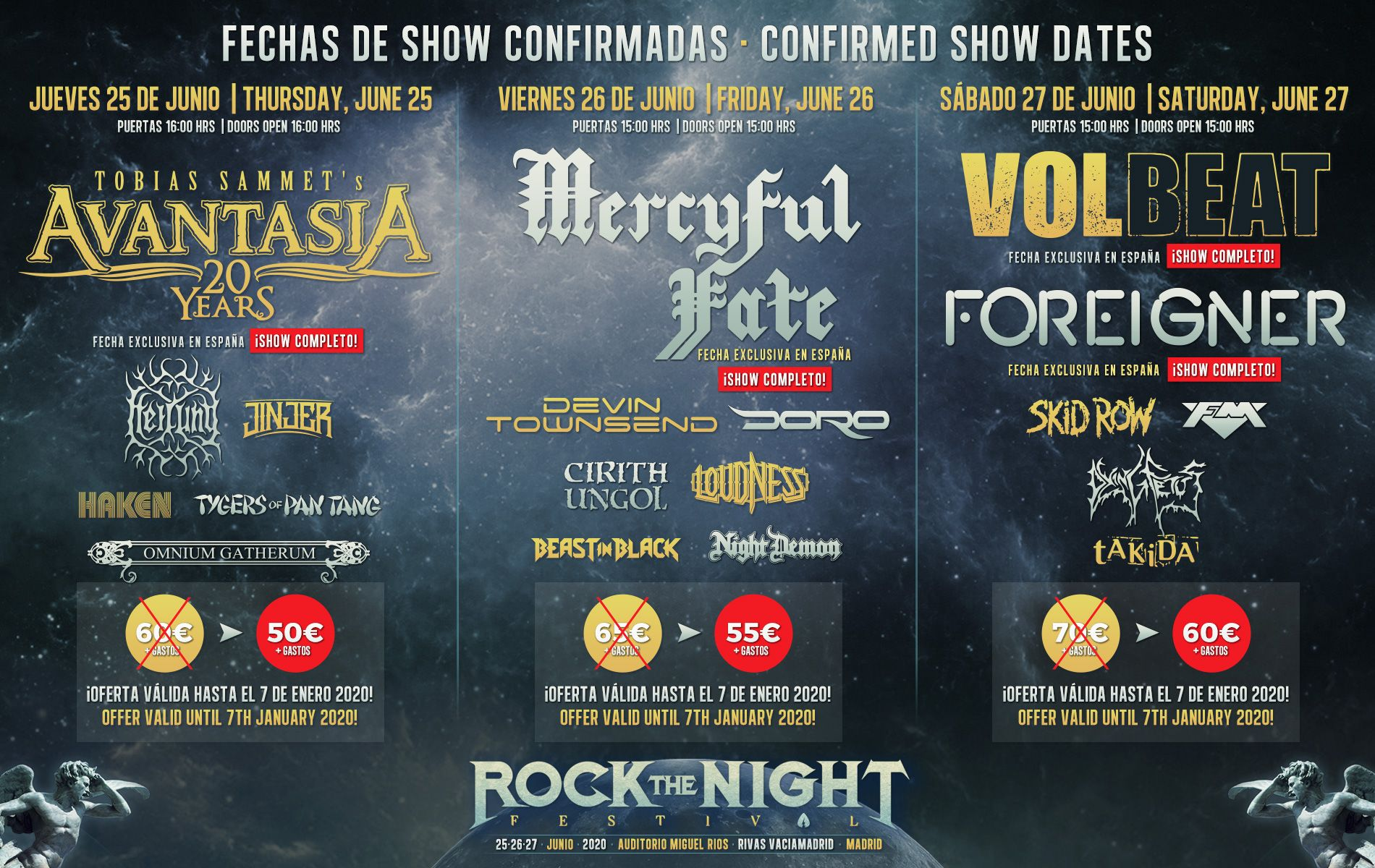 rock the naight festival por dias