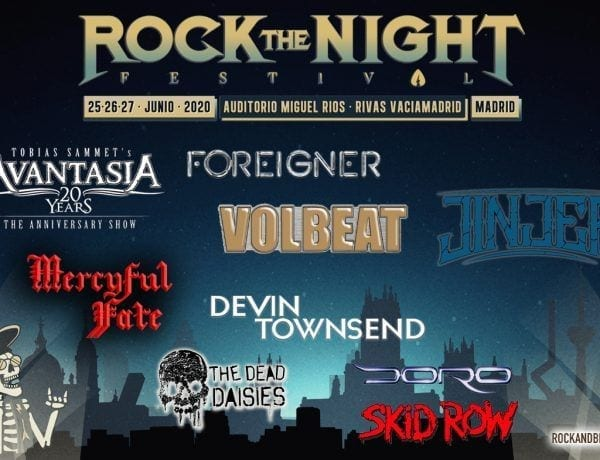 El Festival ROCK THE NIGHT 2020 ya tiene cartel definitivo con novedades como VOLBEAT, JINJER y THE DEAD DAISIES