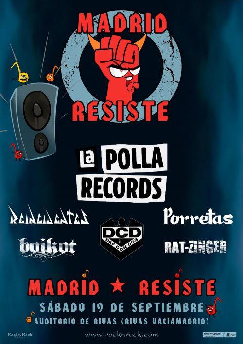 LA POLLA RECORDS en MADRID junto a las mejores bandas de PUNK ROCK nacional