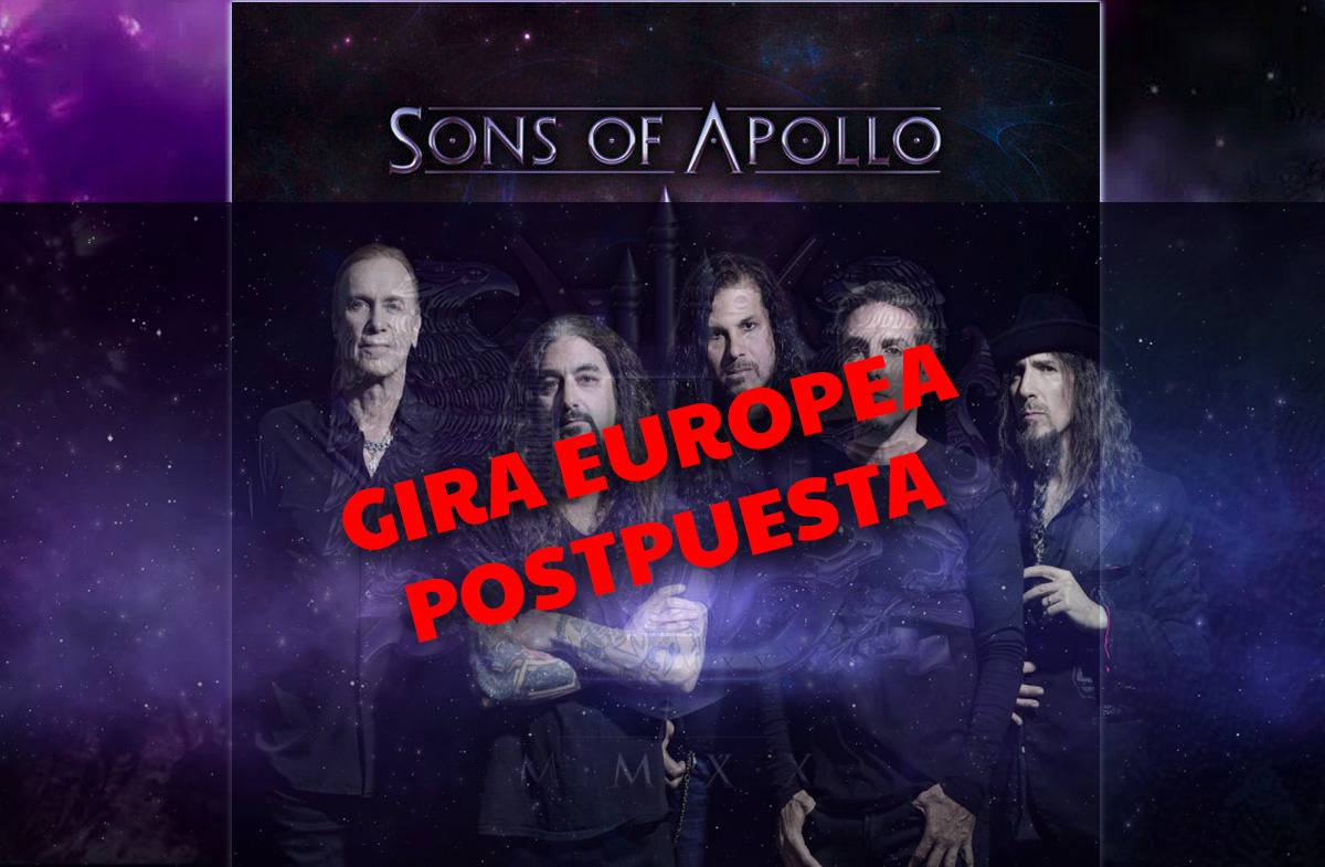 sons of apollo gira postpuesta 2020