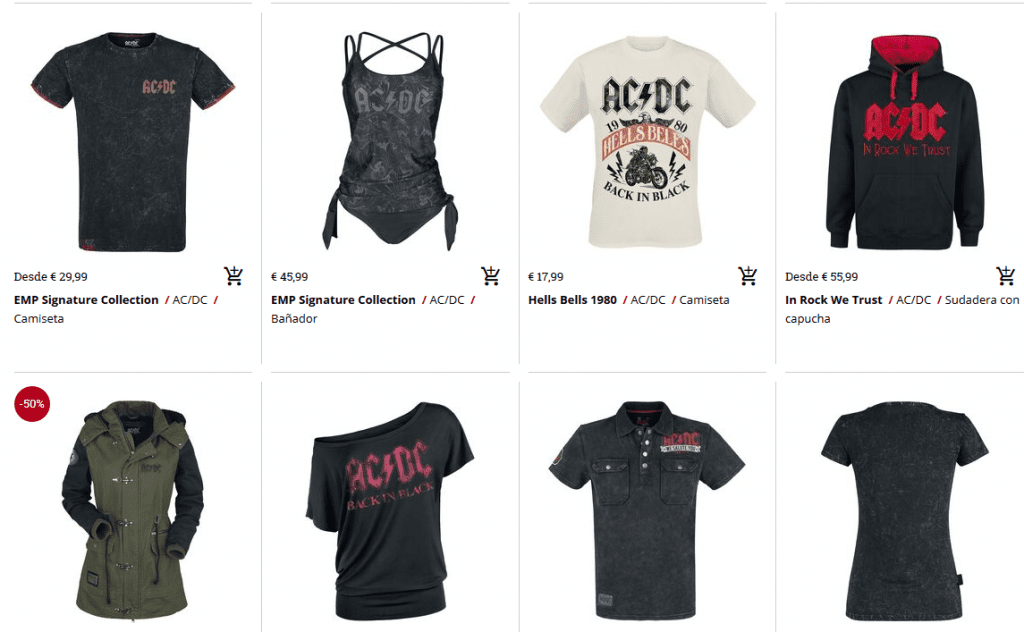merchandising acdc