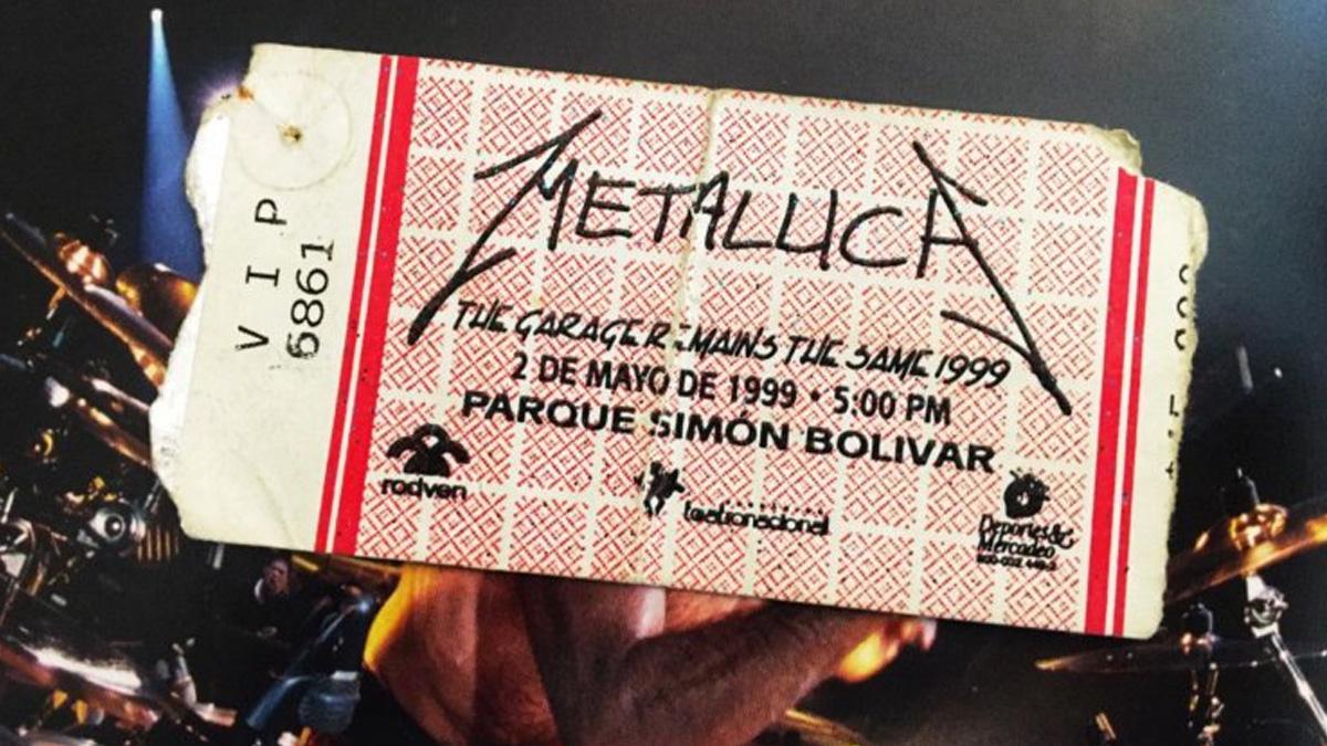 metallica colombia 1999