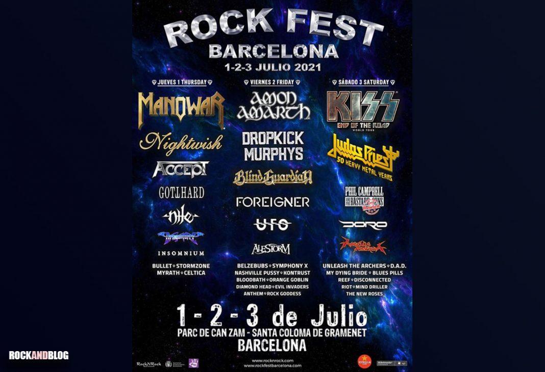cartel por dias rock fest barcelona